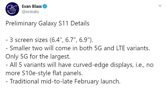 El Samsung Galaxy S11 vendría en tres tamaños 1