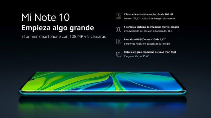 El Xiaomi Mi Note 10, una bestia con pentacámara, 108 MP y una batería de 5260 mAh 3