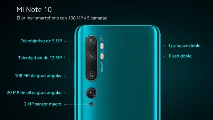 El Xiaomi Mi Note 10, una bestia con pentacámara, 108 MP y una batería de 5260 mAh 2