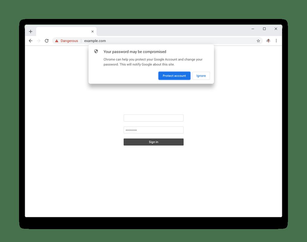 Chrome mejora la protección de nuestras contraseñas 12