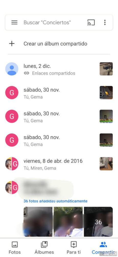 Google Fotos ahora cuenta con chat propio 2