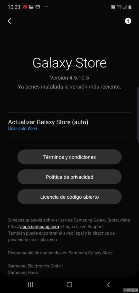 La Samsung Galaxy Store mejora su interfaz con soporte para el tema oscuro 2