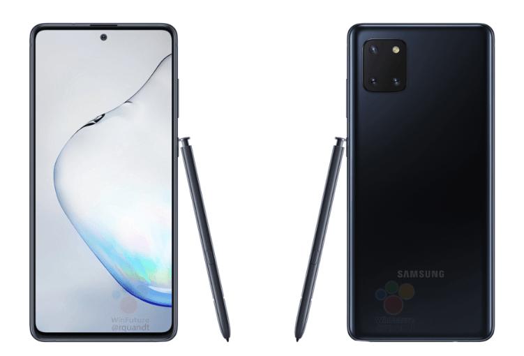 El Samsung Galaxy Note 10 Lite se muestra con todo detalle 1