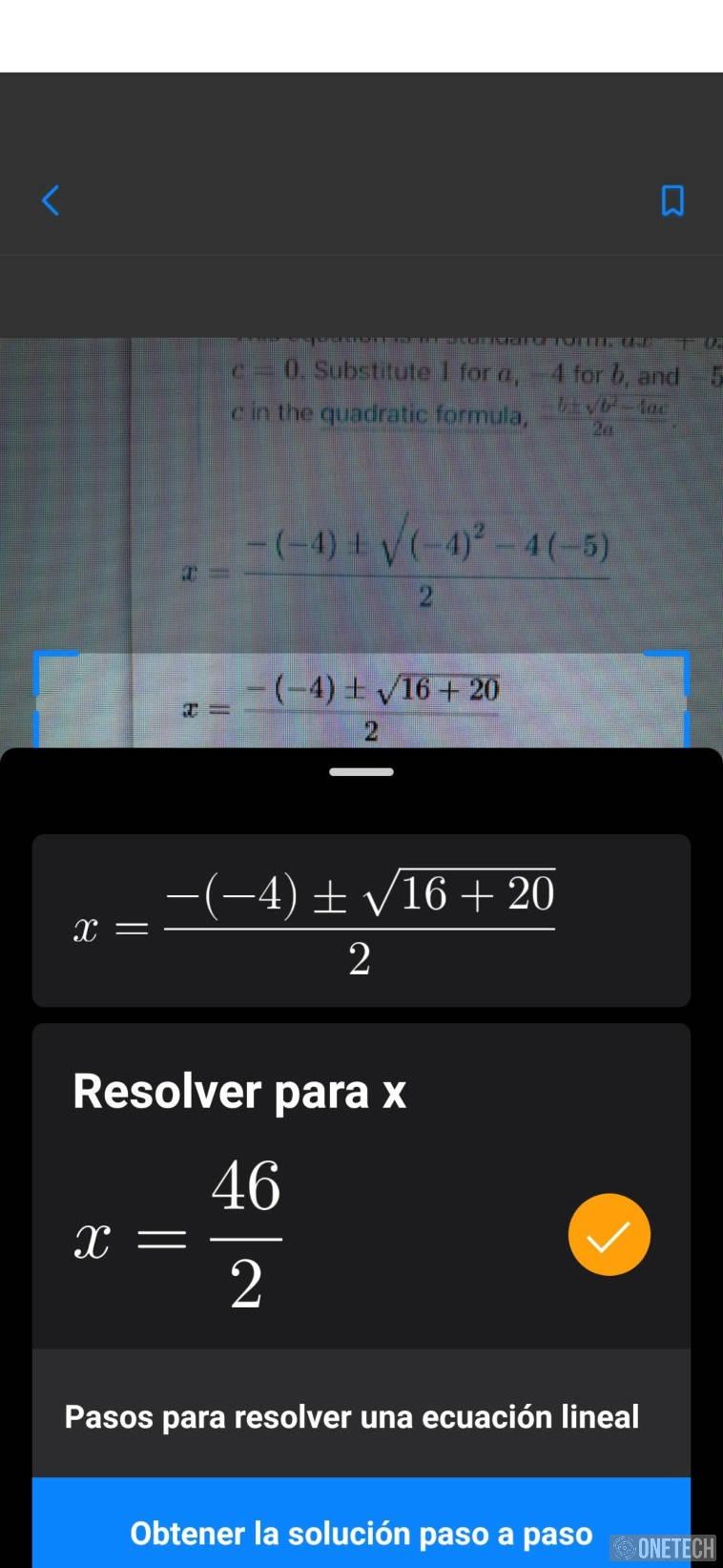Microsoft Math Solver, la app que resuelve problemas matemáticos y te enseña como hacerlo 3