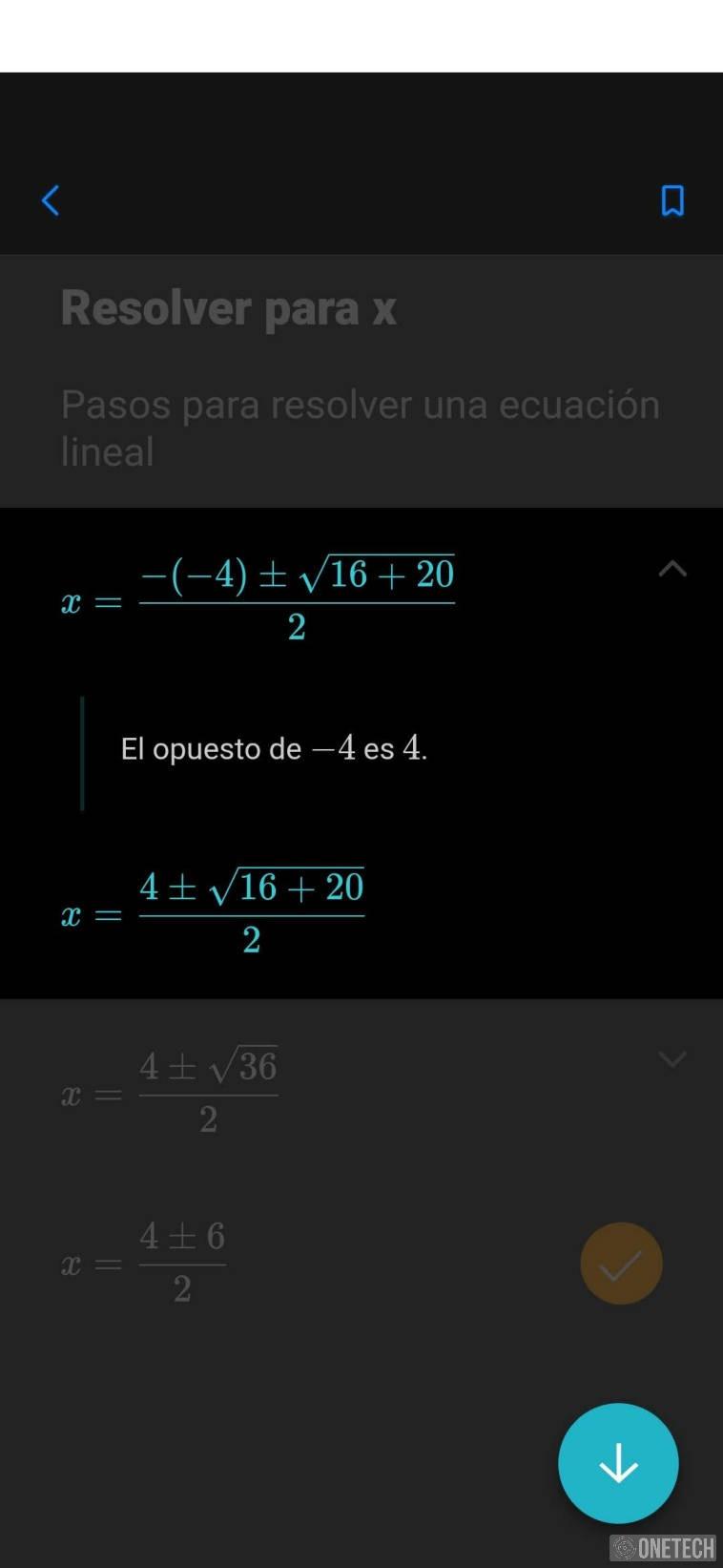 Microsoft Math Solver, la app que resuelve problemas matemáticos y te enseña como hacerlo 5