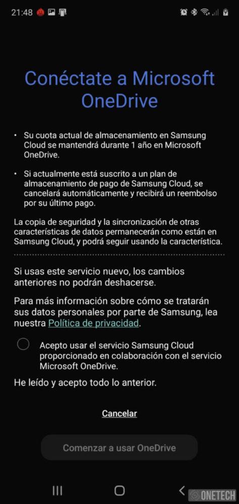 Así funciona la integración de Onedrive en los Galaxy Note 10