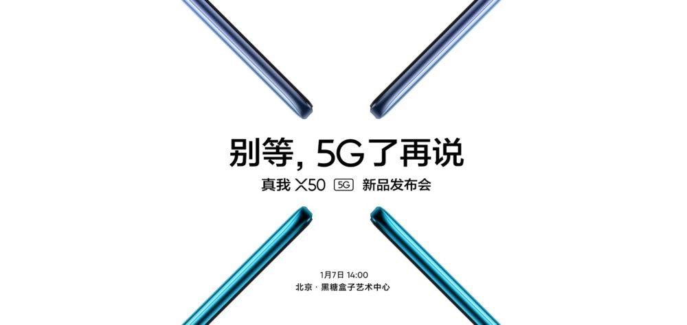 El Realme X50 5G se presentará el 7 de Enero