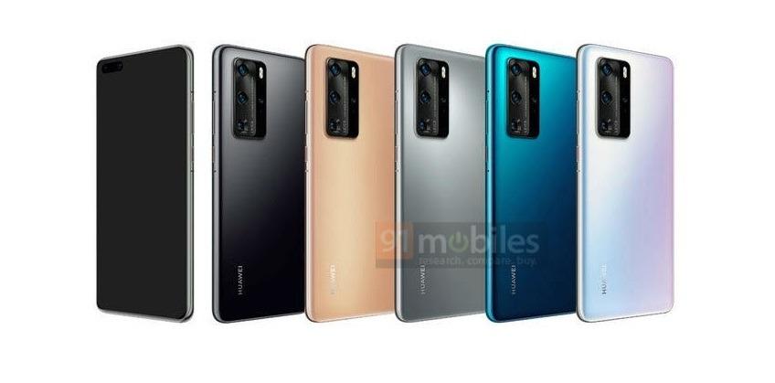 Muestran el Huawei P40 Pro en varios colores