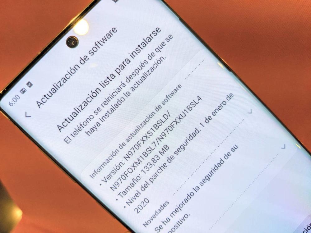 Los Samsung Galaxy Note 10 reciben el parche de seguridad de Enero