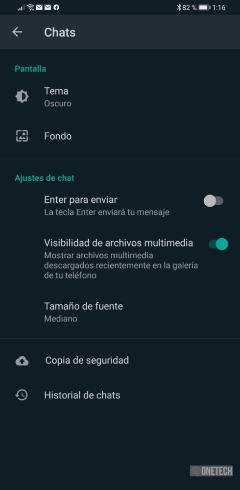 WhatsApp se actualiza y añade el modo oscuro en Android 4