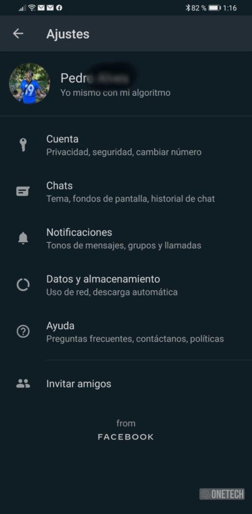 WhatsApp se actualiza y añade el modo oscuro en Android 5