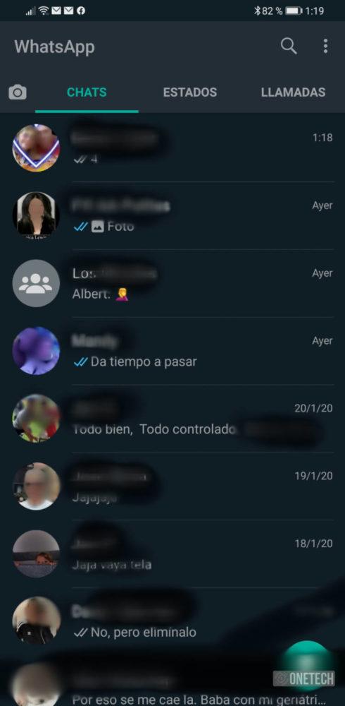 WhatsApp se actualiza y añade el modo oscuro en Android 1