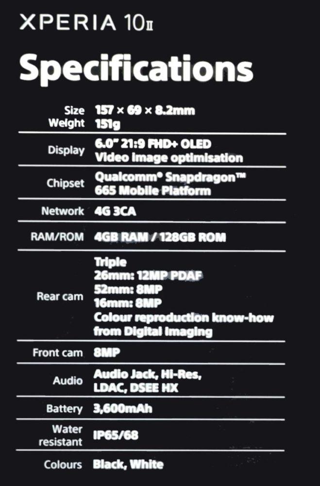 Se filtran los Sony Xperia 1 II y Xperia 10 II antes de su presentación 1