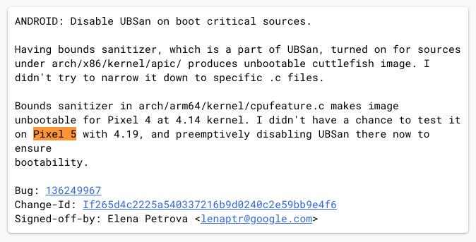 El nombre del Pixel 5 aparece en Android Open Source Project 1