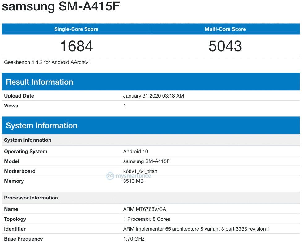 El Samsung Galaxy A41 vendría con un procesador MediaTek