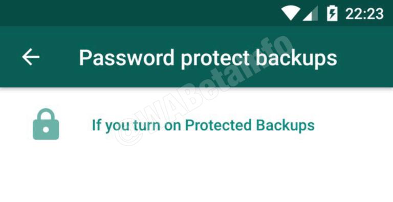 WhatsApp - copia de seguridad con contraseña