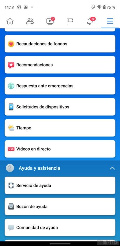 Facebook rediseña su menú en Android recuperando el azul como protagonista 3