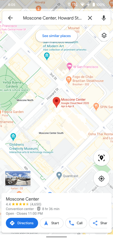 google maps acceso rápido AR