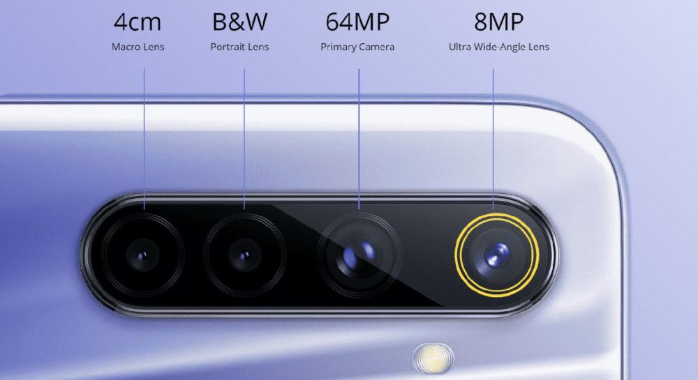 realme 6 cámaras