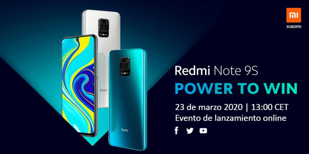 El Redmi Note 9S se lanzará el 23 de Marzo 1