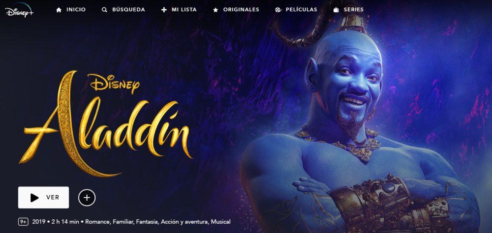 Aladdin en disney plus
