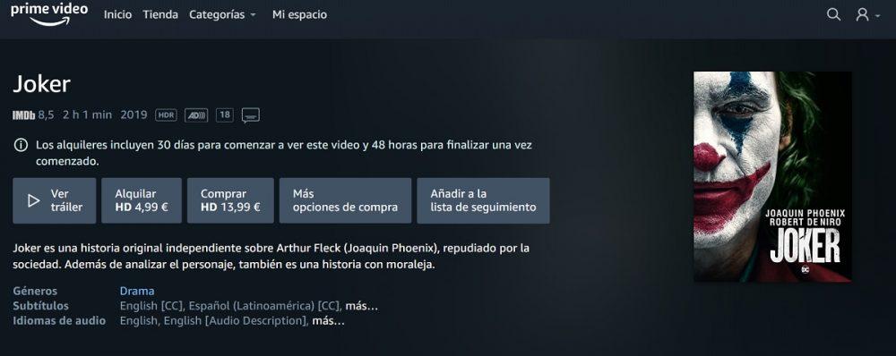 Ya puedes comprar o alquilar películas en España con la Tienda Prime Video de Amazon 10