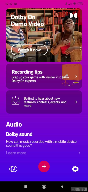 Dolby On, grabación con el mejor sonido. Disponible para Android e iOS 14