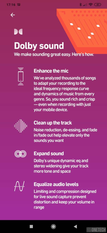 Dolby On, grabación con el mejor sonido. Disponible para Android e iOS 15