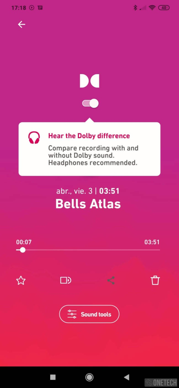 Dolby On, grabación con el mejor sonido. Disponible para Android e iOS 8