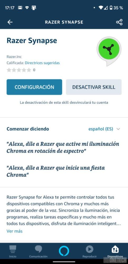 Ya puedes usar Alexa para controlar dispositivos Razer 1