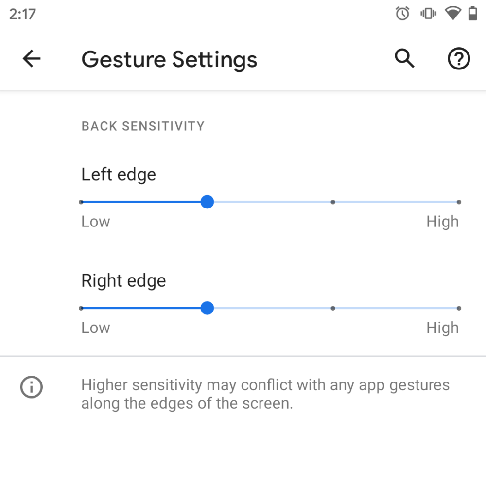 Sensibilidad pantalla