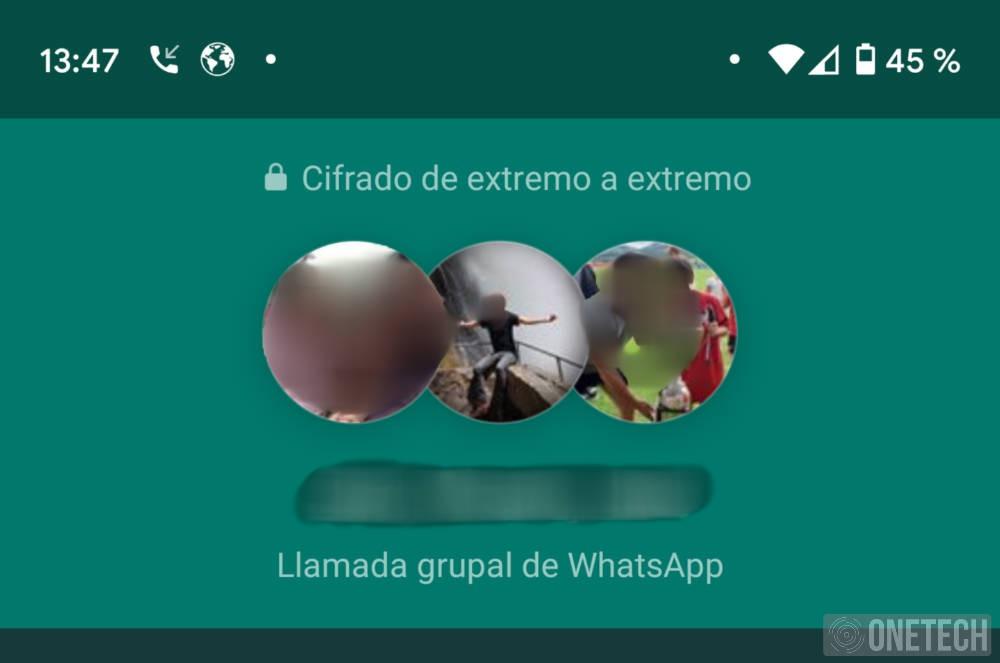 WhatsApp ya advierte del cifrado en llamadas y videollamadas grupales