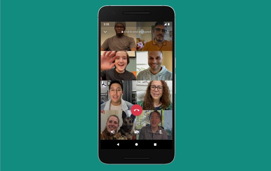 Videollamadas grupo WhatsApp