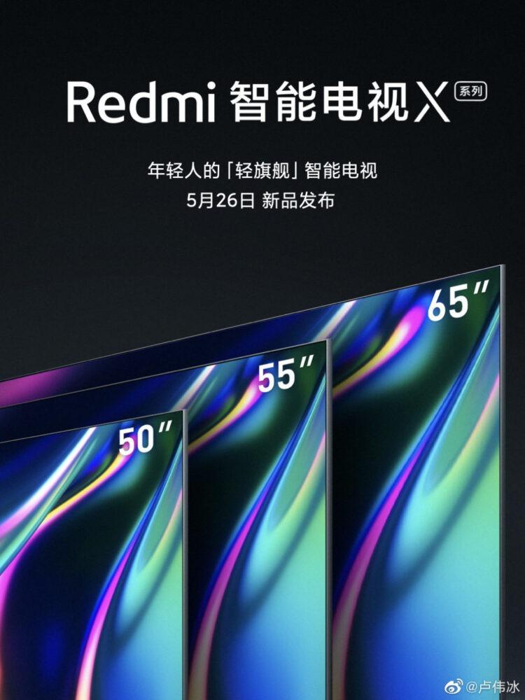 Los Redmi Smart TV X50, X55 y X65 se presentarán con el Redmi 10X