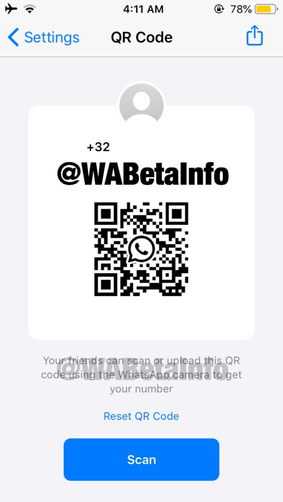 WhatsApp permitirá añadir contactos con un código QR 1