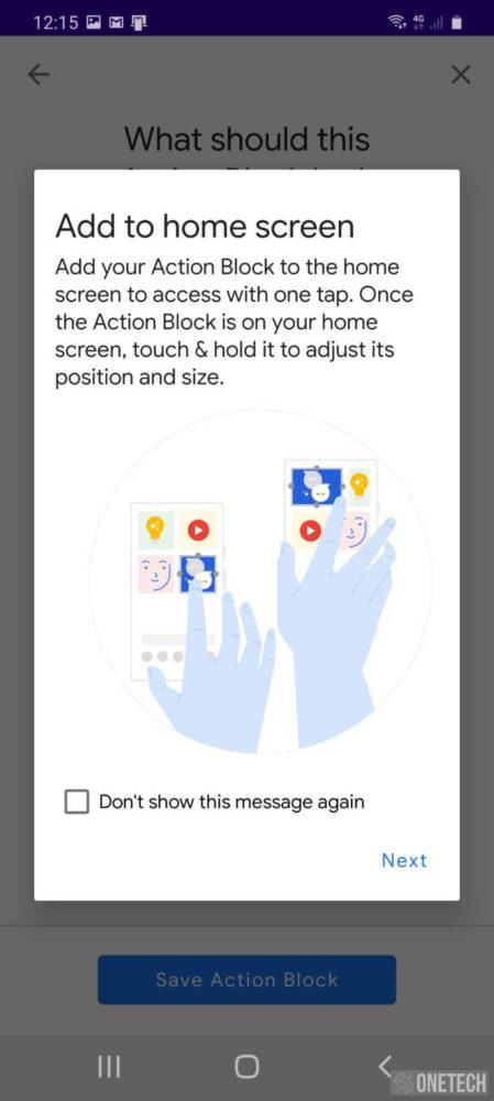 Action Blocks, la nueva aplicación de accesibilidad de Google 5