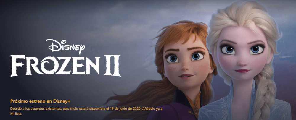Próximos estrenos en Disney Plus - Frozen II