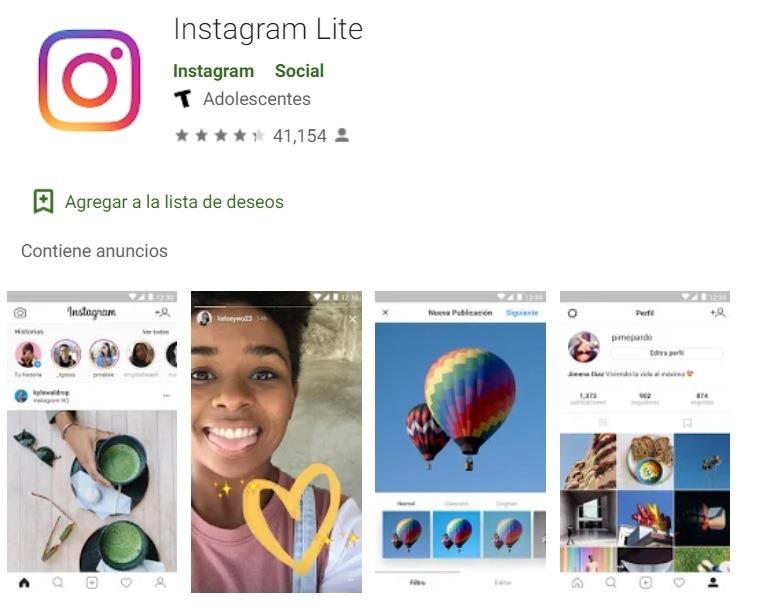 Instagram Lite se retira de Google Play a la espera de una nueva versión 1