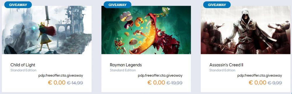 Descarga gratis Assassin's Creed II, Rayman Legens y Child of Light por tiempo limitado 1