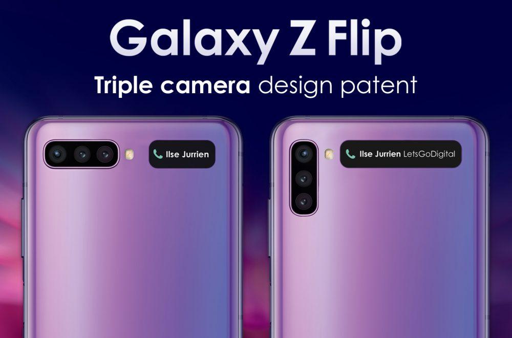 Samsung patenta cámaras triples para el Galaxy Z Flip