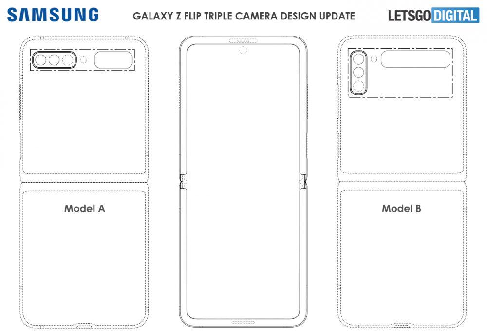 Samsung patenta nuevos sistemas de cámaras para el Galaxy Z Flip 1
