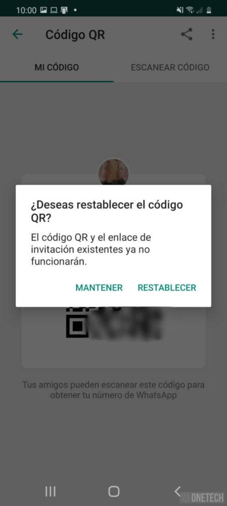 Genera tú código QR en WhastApp