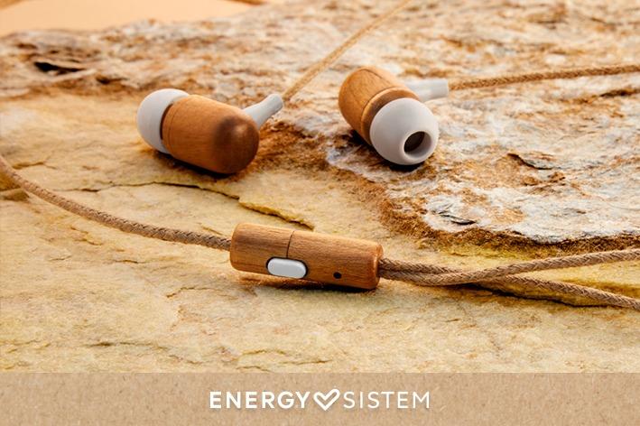Energy Sistem - Earphones Eco Cherry Wood