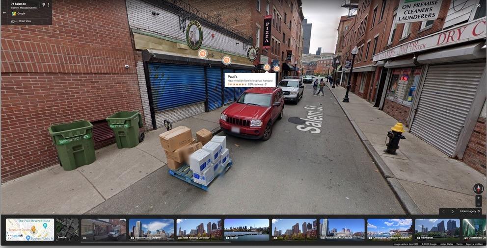 Google Maps prueba marcadores sobrepuestos en Street View 1