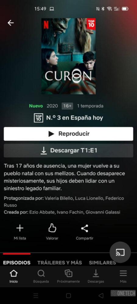 Netflix trabaja en una nueva interfaz de sus fichas de películas y series 3