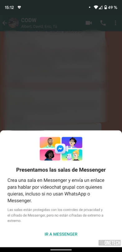 WhatsApp: así se usan las Salas para hacer videollamadas de hasta 50 personas 5