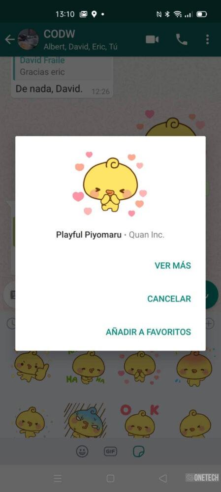 WhatsApp beta ya admite Stickers animados y te los mostramos 3