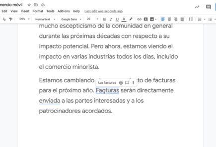 sugerencias gramaticales en Español