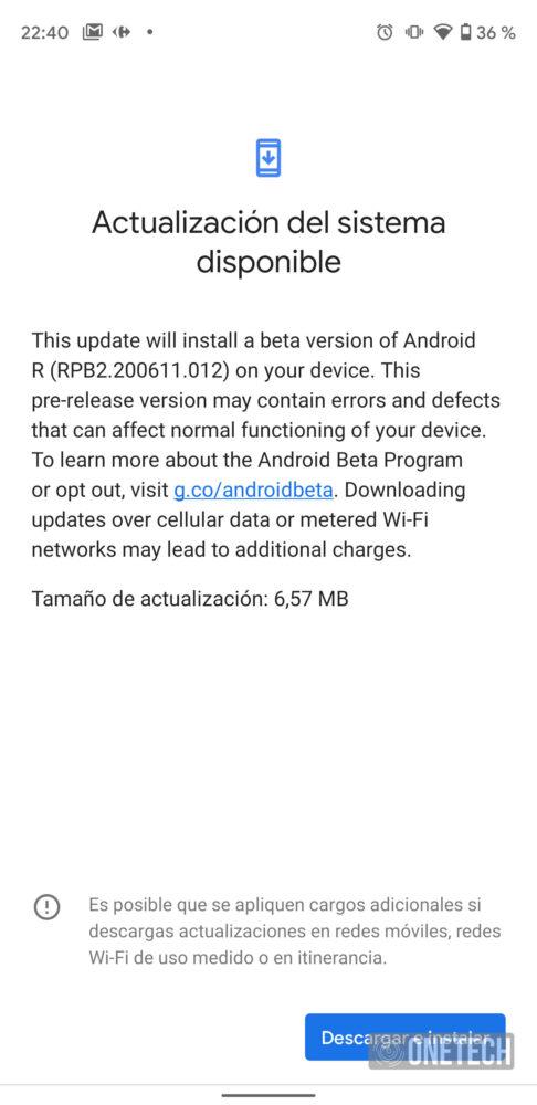 La actualización Android 11 Beta 2.5 ya está disponible