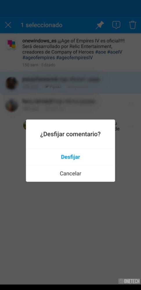 Instagram ya permite anclar comentarios 2